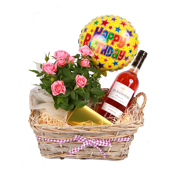 Birthday Cake And Wine Gifts