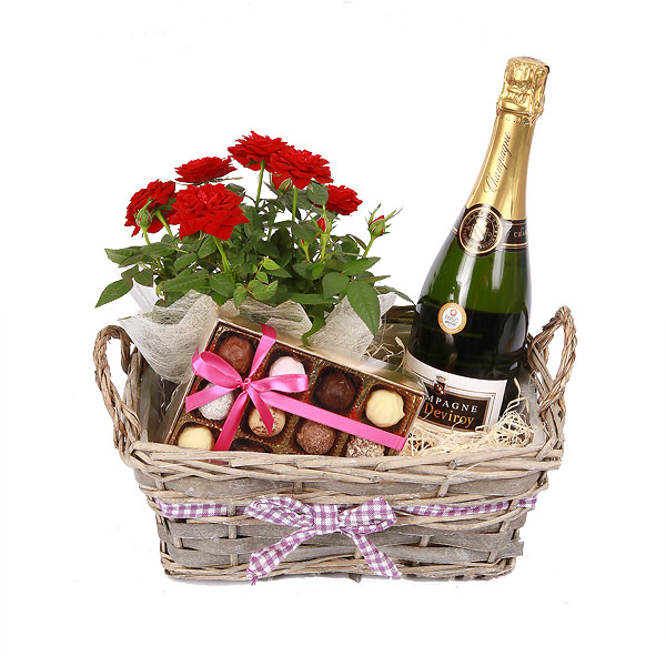 Flower Arrangements Gift Baskets : Spain gift baskets set
